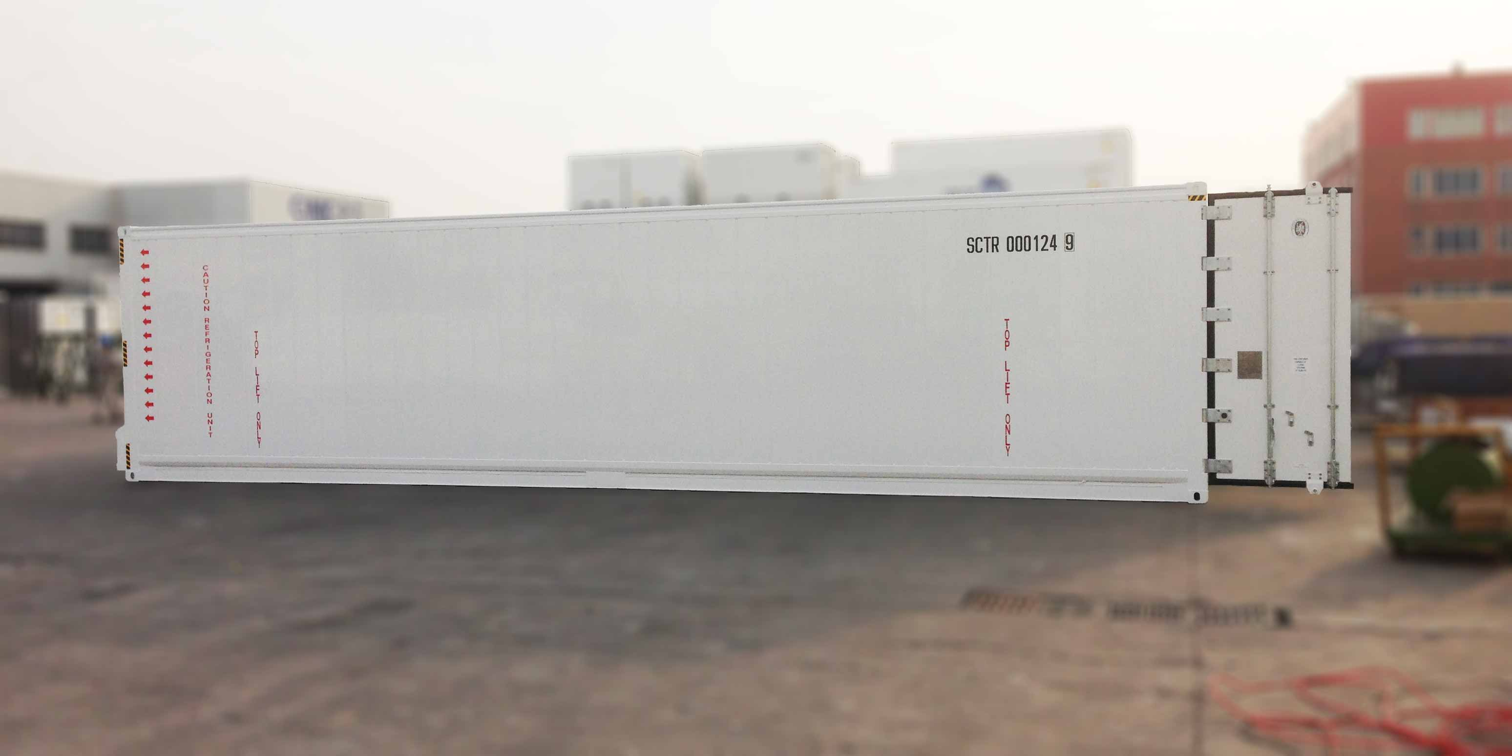 40' refrigerated container, heavy duty construction