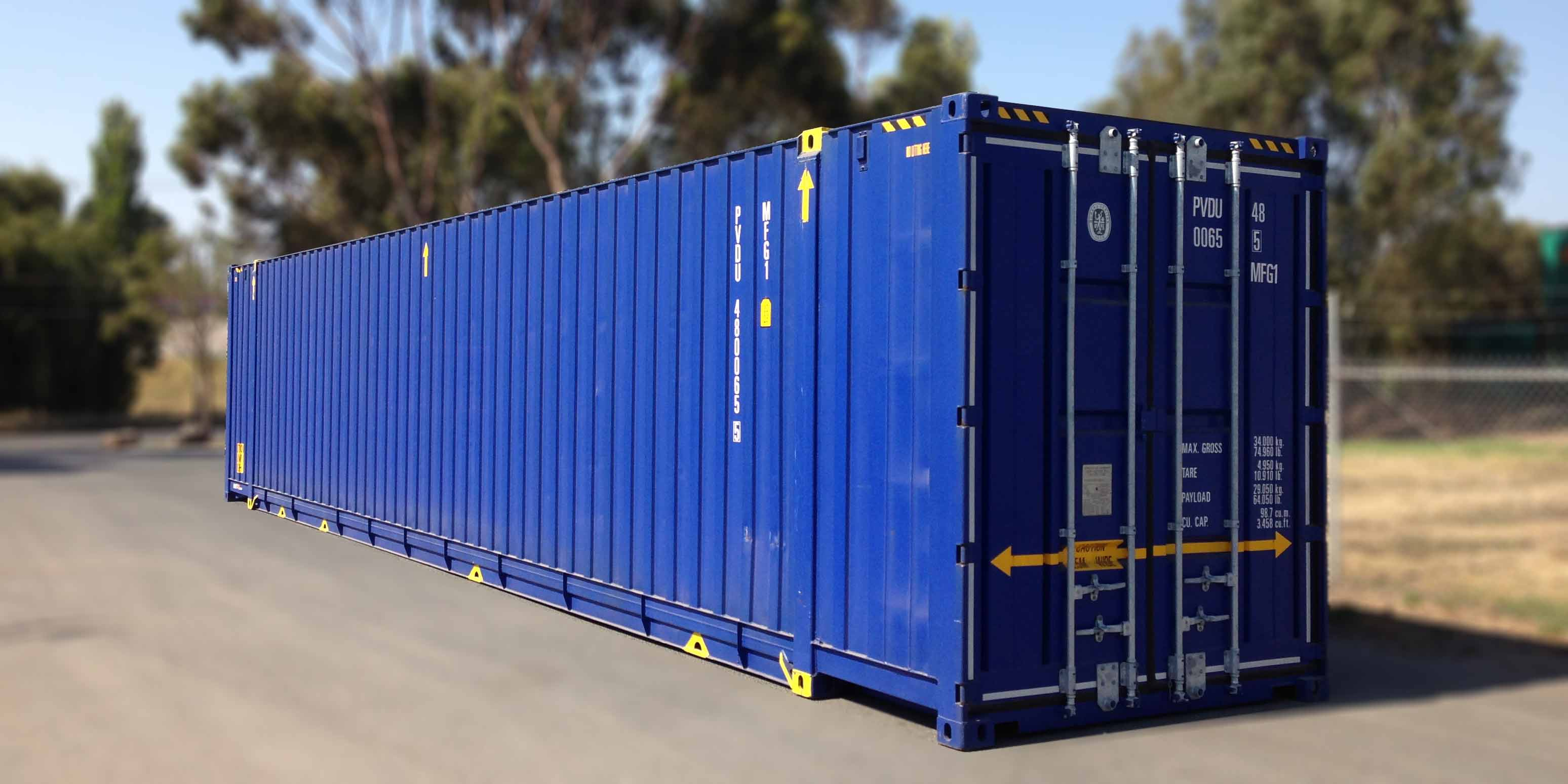 48' dry freight box constructed with high tensile steel for minimum tare-weight and maximum payload.
